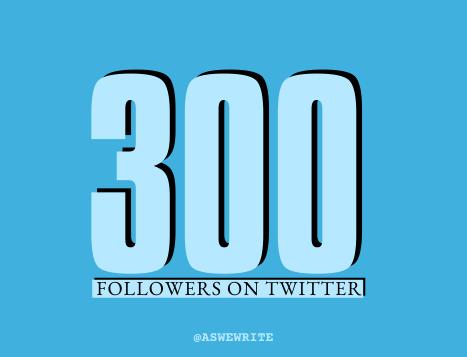 Social media: 300 twitter followers