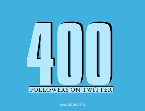 AWW MILESTONES 400 TWITTER