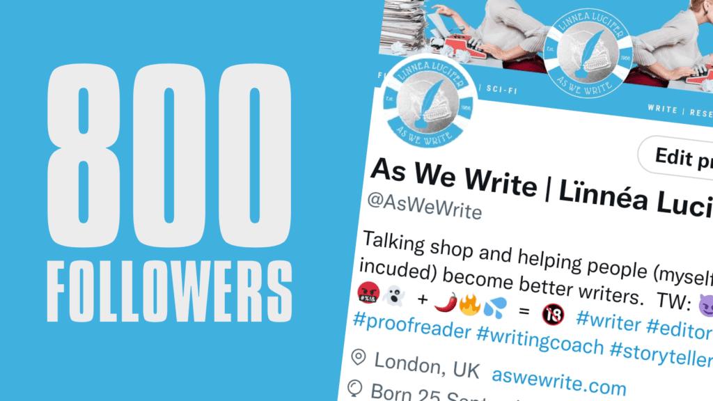 0 800 Followers