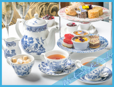 Afternoon tea - an important part of my writing ritual.